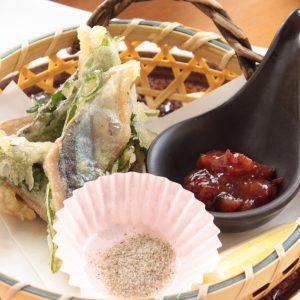 秋-秋刀魚のしそ揚げ
