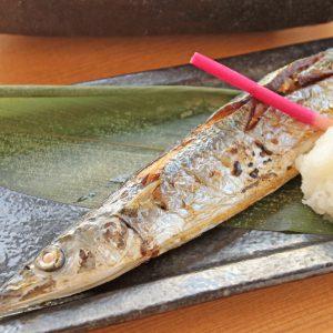 秋-秋刀魚の塩焼き